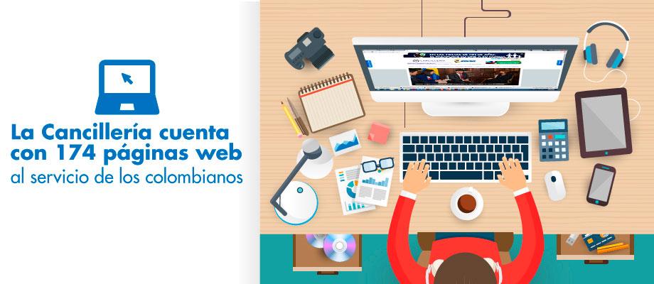 la cancillera cuenta con pginas web al servicio de los colombianos vistenos