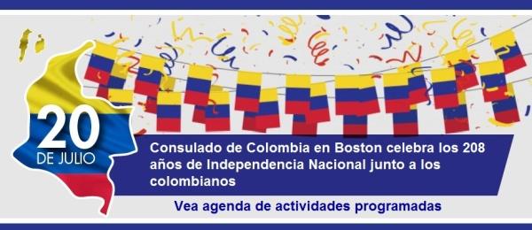 Consulado de Colombia en Boston celebra los 208 años de Independencia Nacional